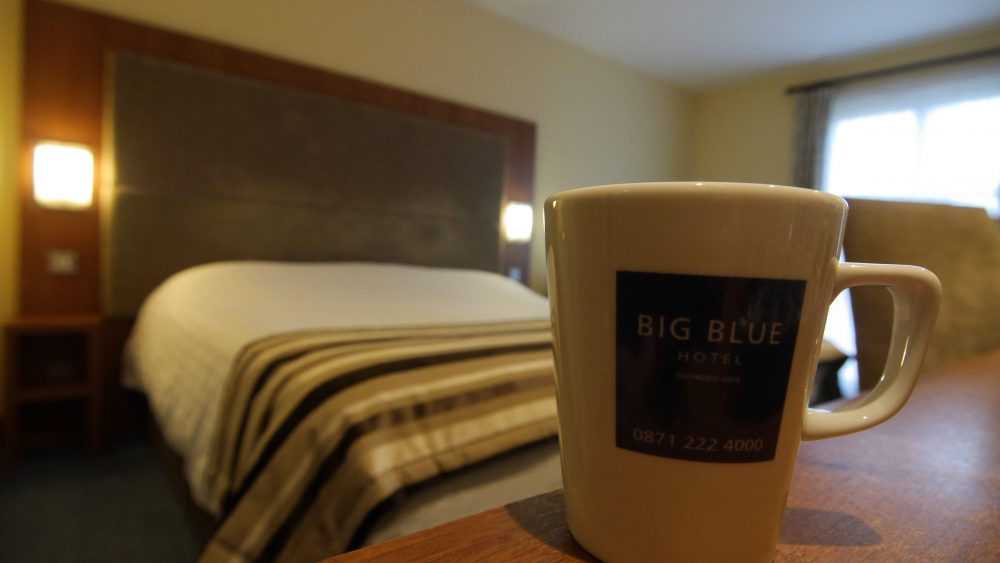 Big Blue Hotel Bedroom
